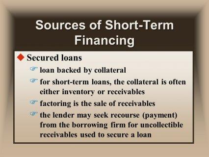 F for short-term loans