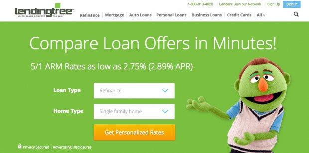 Lending Tree Review - website