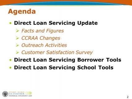 2 Agenda Direct Loan Servicing