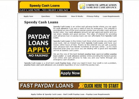 Close Speedy Cash Loans