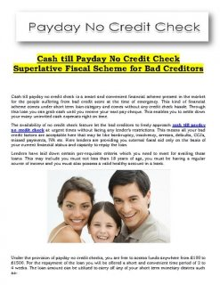 Easy Loans Till Payday No Credit Checks