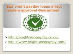 Payday Loan Direct Lenders For Bad Credit