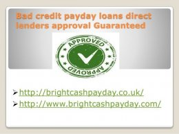 Payday Loan For Bad Credit Direct Lender