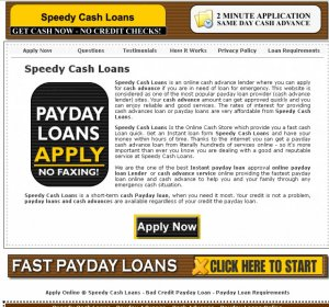 Speedy Cash Loans