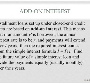 What is installment loan?
