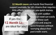 12 Month Installment Loans- Online money sources with easy