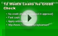 12 Month Payday Loans UK- No Credit Check Online Aid