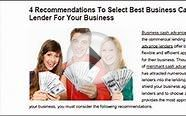 4 Recommendations To Select Best Business Cash Advance