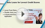 Auto Loans for Low Credit Scores