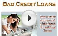 Bad Credit Loans- Get the Easy Financial Loans and Fulfill