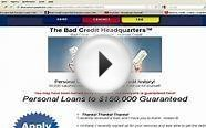 BAD CREDIT LOANS, NOT PAYDAY LOANS, GUARANTEED, MONTHLY