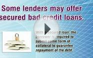 Bad Credit Personal Loans For Different Purposes