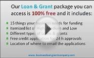 business loans and government grants for small company
