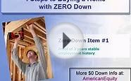 California no money down mortgage zero down home loans
