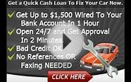 Car Repair Loan Bad Credit