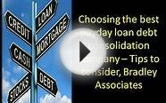 Choosing the best payday loan debt consolidation company