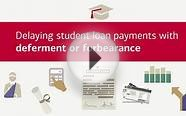 Delaying student loan payments with deferment or forbearance