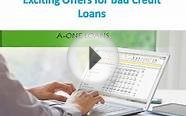 Exciting Offers for Bad Credit Loans
