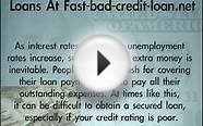 Fast Bad Credit Personal Loans - Apply For $5,.00 Online
