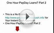 Fast Cash Pay Day Loans|One Hour Pay Day Loans