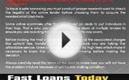 Fast Loans Today- Appropriate Finance For Those Who Need