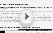 Free Credit Checking