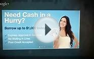 Get Instant Payday Loans- No credit check needed