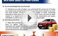Get Preapproved For Car Loans For Poor Credit Score