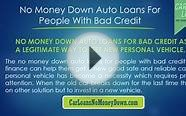 Getting Car Loans With Bad Credit And No Money Down