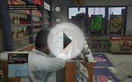 GTA Online: Taking money from the cash register.