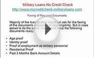 How to Apply Military Loans No Credit Check