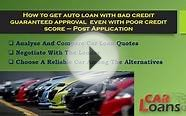 How to find guaranteed auto loan approval for bad credit