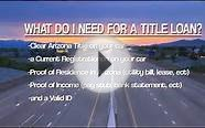 How to get a auto title loan at 1Stop Money Centers