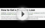 How to Get a Business Loan? by US Special