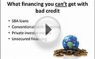 How to Get Business Financing with Bad Credit