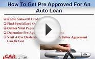 How To Get Pre Approved For A Car Loan With Low Rates