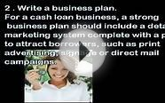 How to Start a Cash Loan Business