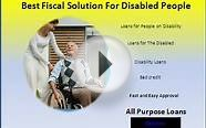 Loans for People on Disability unsecured loans for