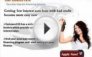 Low Interest Auto Loans for Bad Credit