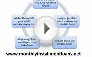 Monthly Installment Loans- Handle Any Worse Condition With