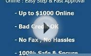 + Next Day Loans Online | 24 Hour Payday Loans Up to $1