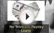 No Teletrack Payday Loans