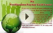 No Verification Payday Cash Loans- Quick Loans Same Day