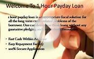One Hour payday Loans: Get Fast Funds In Just An Hour