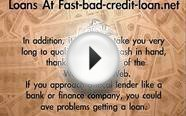 Online Loans For People With Bad Credit - No Bank Account