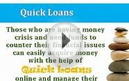 Online Quick Loans Are Hassle Free Option In Many Ways