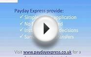 Payday Loans - No faxing required using .paydayexpress