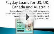 Payday Loans US, UK, Canada and Australia