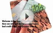 Personal Loans, Bad Credit Loans And You