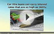 Personal Loans for Car Title